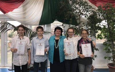 Bolyai Matematika Csapatverseny országos 8. hely
