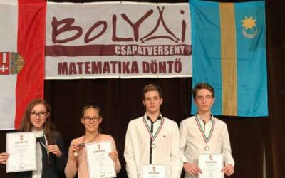 Bolyai Matematika Csapatverseny országos 3. helyezés