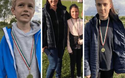 Városi mezei futó versenyen 1. és 2. hely